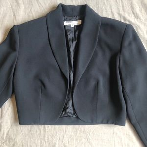 rex lester Jackets & Coats - Cropped Black Dress Jacket